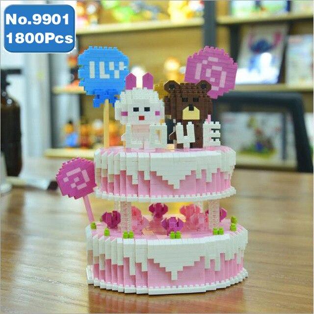 9390095936 921286298 9390110592 ZRK 9901 Happy Birthday Wedding Double Deck Cake