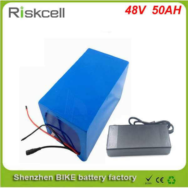 Free customs taxes  2000W 48V  50AH Electric Bicycle Battery 48V 1000w Lithium Battery 48V 50AH E-bike battery 50A BMS  charger free customs duty 1000w 48v ebike battery 48v 20ah lithium ion battery use panasonic 2900mah cell 30a bms with 54 6v 2a charger