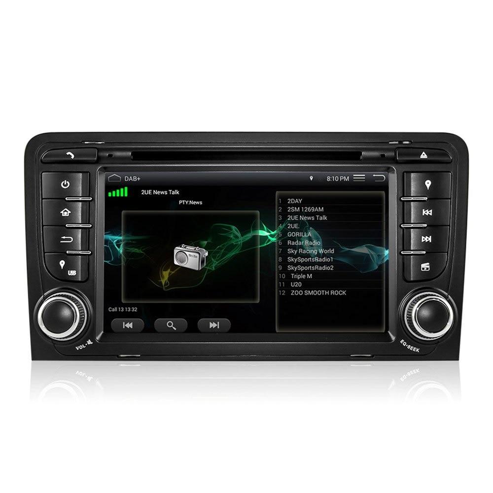 imágenes para 7 Pulgadas Doble Din Android 5.1 WIFi de la Ayuda del GPS Mapa de Audio Quad-Core DU7047 Mic para Audi A3 DVD Del Coche en el tablero de Coches Reproductor de DVD de Vídeo