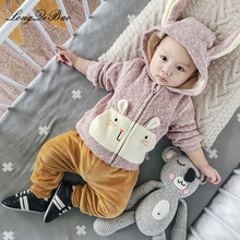longqibao wild cartoon winter shirt cotton clothes baby
