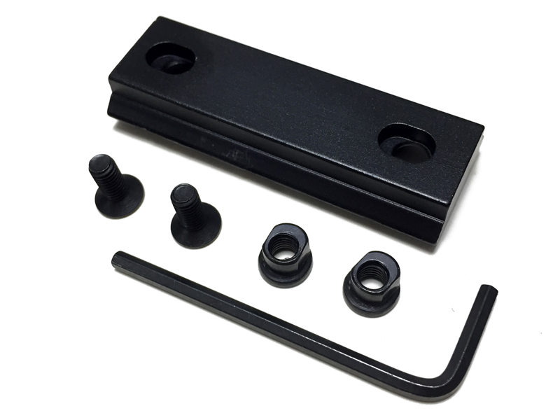 Armiyo Aluminum 5 Slots 56mm Length 21mm Weaver Picatinny Rail Mount Adapter Key Pattern Mod Hunting Shooting Accessories
