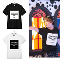 2016 kpop estrella coreana clave Shinee ONEW Camiseta de manga corta negro ropa blanca para las mujeres y los hombres del estilo del verano t shirt camisetas