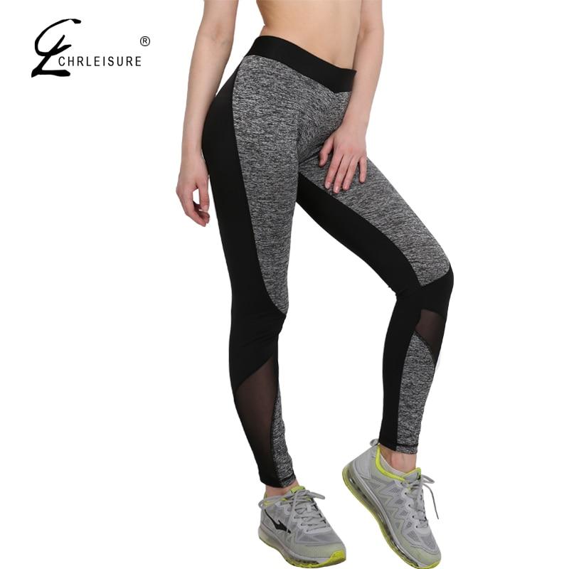 CHRLEISURE S-XL Push Up Mesh   Leggings   Women Breathable Patchwork Leggins Workout Polyester Slim   Leggings   Women