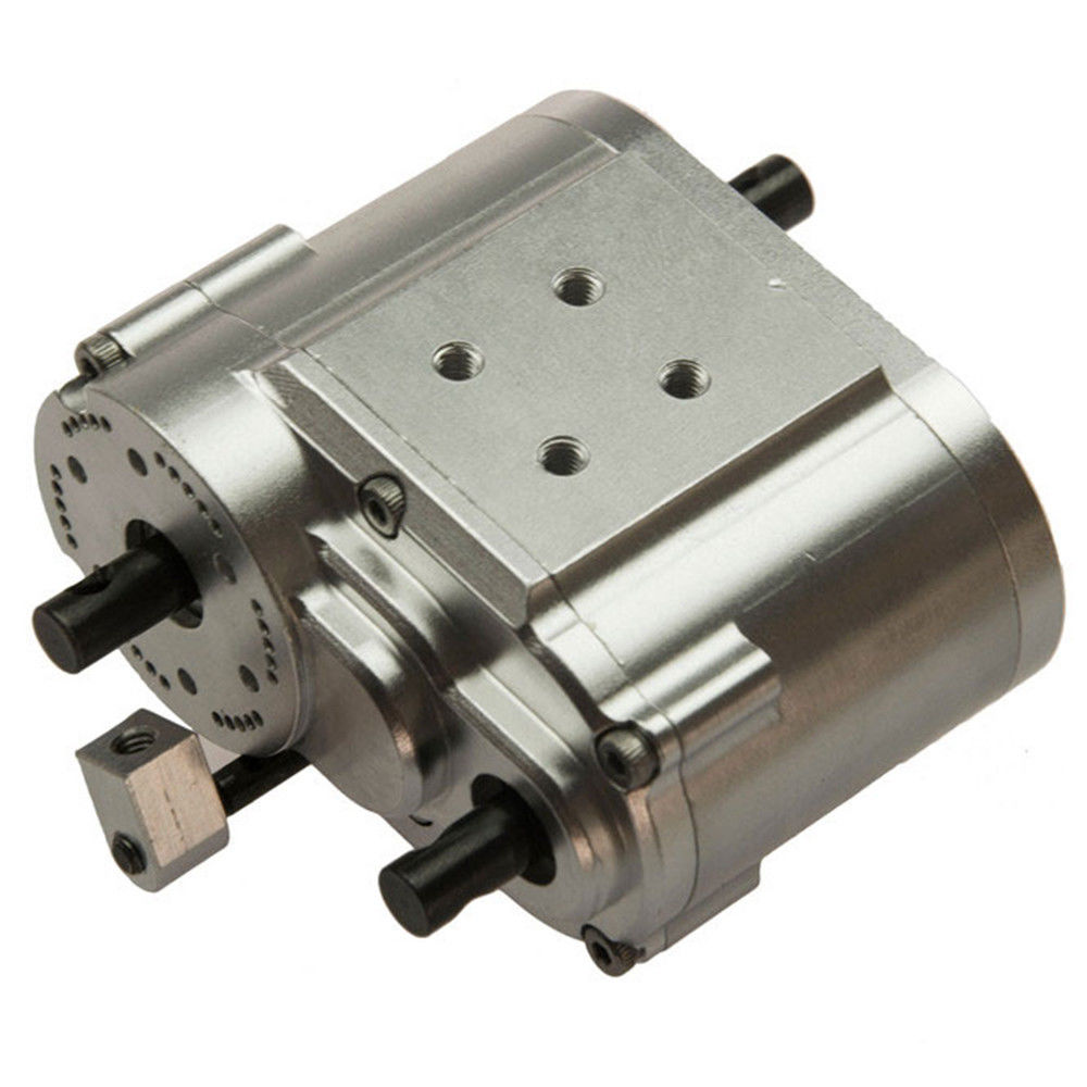1PCS 2 Speed Transfer Case for SCX10 D90 1 10 RC Crawler Car Silver