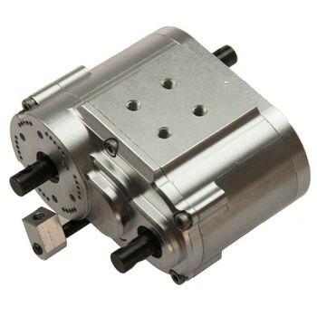 1PCS 2 Speed Transfer Case for SCX10 D90 1/10 RC Crawler Car Silver