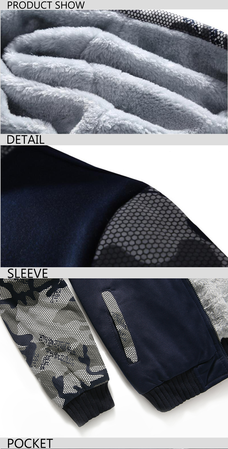 Sweatshirts Men Hoody 2017 New Hot Sale Mens Sportswear Thick Zip Hoodies For Male Camouflage Harajuku Sweatshirt Kpop Hooide