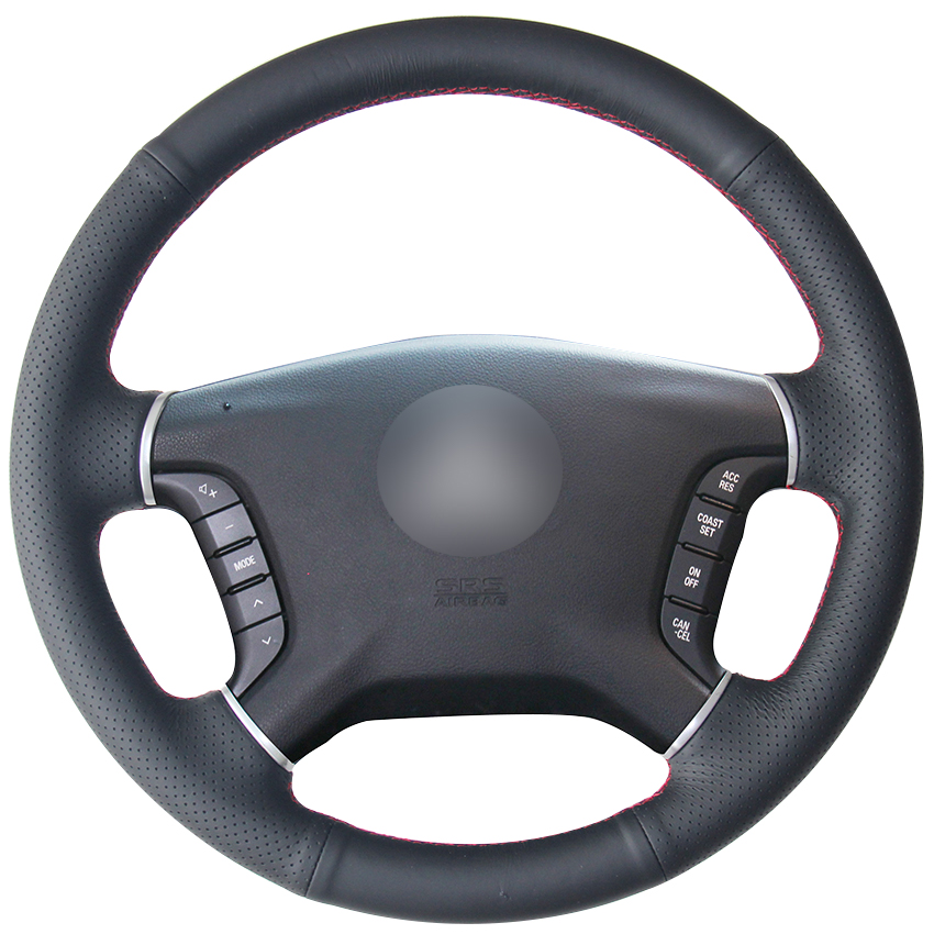 2008 Mitsubishi Galant Interior: Black Natural Leather Car Steering Wheel Cover For