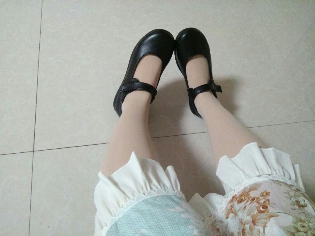Image 5 - Bonito meninas lolita maid sapatos de couro redondo japão escola  uniforme sapatos botas uwabaki chinelos seikatsu emilia rem ram  cosplaySapatos
