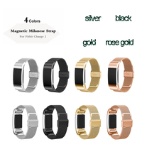 Joyozy Luxury Magnetic Milanese Loop Wrist Strap Link Bracelet Stainless Steel Band Adjustable Closure For Fitbit