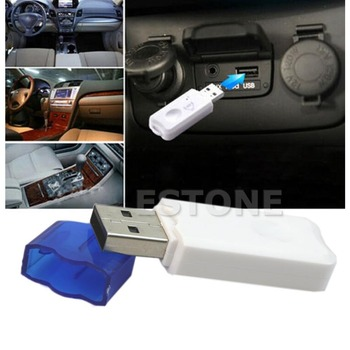 Wireless USB Bluetooth Stereo Audio Music Receiver Adapter For Car Home Speaker