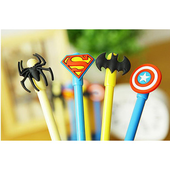 4 pcs lot lovely cute LOL style  gel pen 0.38mm black link  kawii writing pens for school and  office material escolar лол блинг