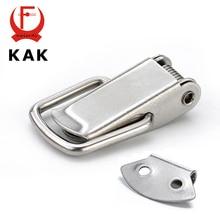 KAK J107 Аппаратного Шкафа Коробки Пружинкой Поймайте Переключить Засов 46*21 Мягкая Сталь Hasp Для Раздвижных Дверей простое Окно