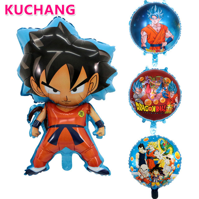 50pcs 7845cm 18inch 7 Dragon Ball Z Toy Foil Balloons Baby Son Goku Inflatable Ballon Birthday Party Decorations Globos