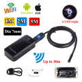 WiFi BOX 7mm Wifi Endoscope Borescope Inspection Video Camera 200mAh for ios 7 Android 1M/2M/5M Free shipping!