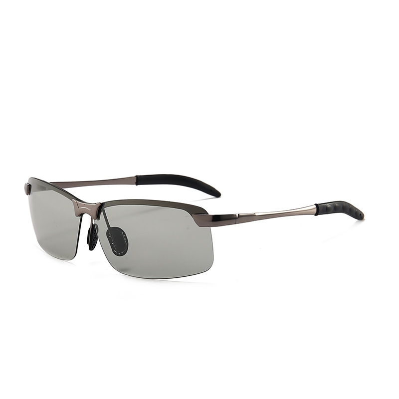 Vazrobe Rimless Photochromic Sunglasses Polarized Men
