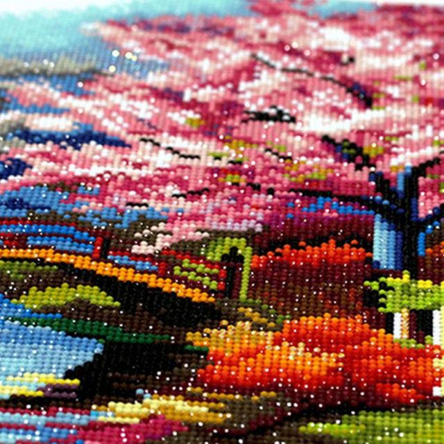 Diamond Embroidery Landscape With Rhinestones Needlework Mosaic Nature Sale Kits Cross Stitching Painting