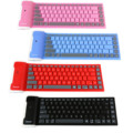 1 PC 109 Keys USB Silicone Rubber Waterproof Flexible Foldable Keyboard For PC IOS iPad Android teclado inalambrico tastiera
