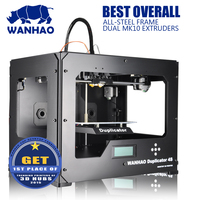 2018 High quality and cheap wanhao D4S FDM DIY 3D Printer with Double Extruder and Steel frame free shipping cost