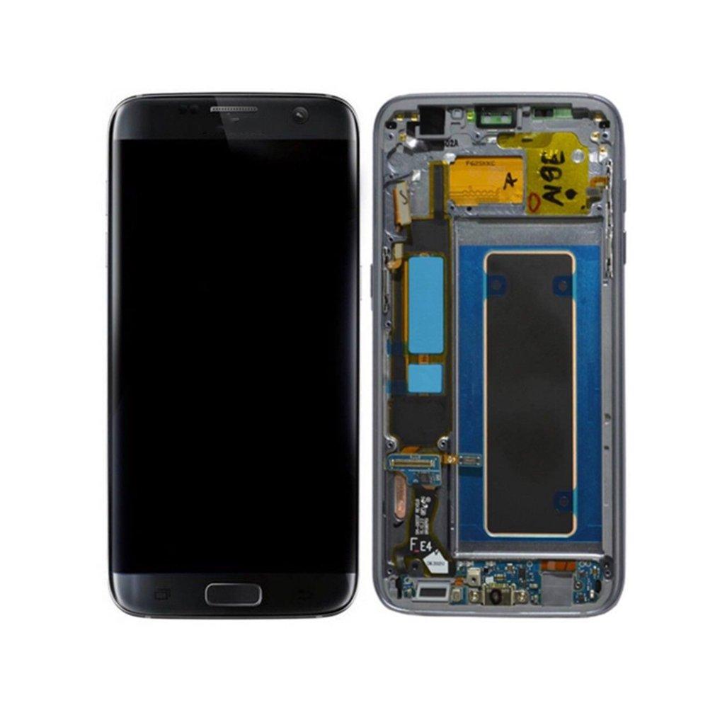 Assemblée de numériseur d'écran tactile d'affichage à cristaux liquides avec des pièces de rechange de téléphone portable de cadre pour le bord G935F de Samsung Galaxy S7