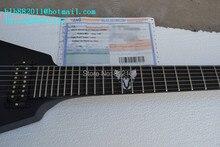 Einzelhandel neue 7-strings e-gitarre die ziegel gitarre mit schwarz hardware in China + EMS geben verschiffen + schaum box F-1929