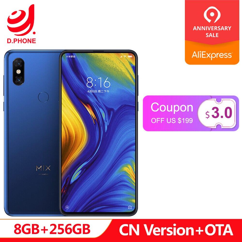 In Stock Xiaomi Mi Mix 3 8GB RAM 256GB ROM Snapdragon 845 Octa Core 24+2MP 6.39 Full Screen Qi Wireless Charging Cellphone