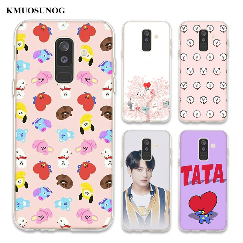 Transparent Soft Silicone Phone Case bts fashionable For Samsung Galaxy A6 A6+ A9 A8 Star A8+ A7 A5 A3 Plus 2018 2016
