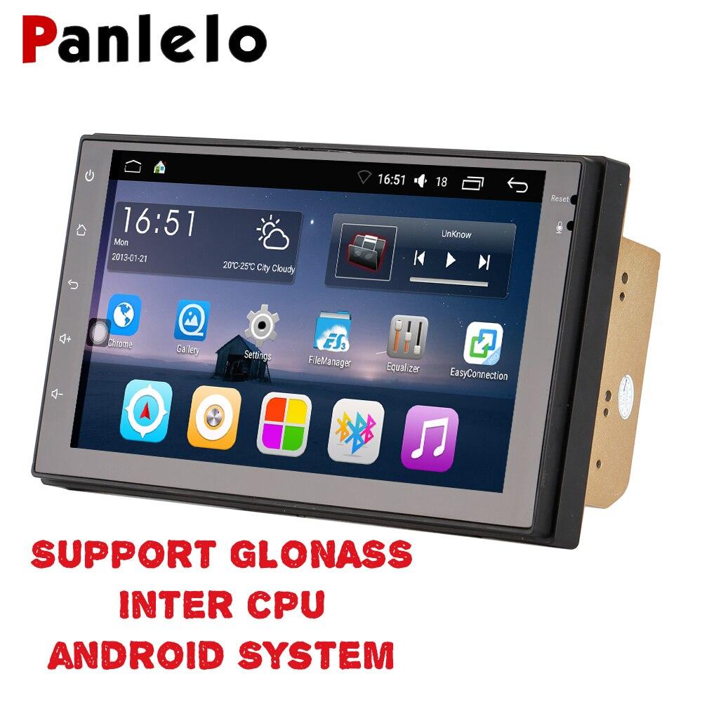 Panlelo 2 Din Android 6,0 CPU Intel apoyo GLONASS Car Stereo 7 pulgadas Quad Core 2din Unidad de navegación GPS radio de Audio