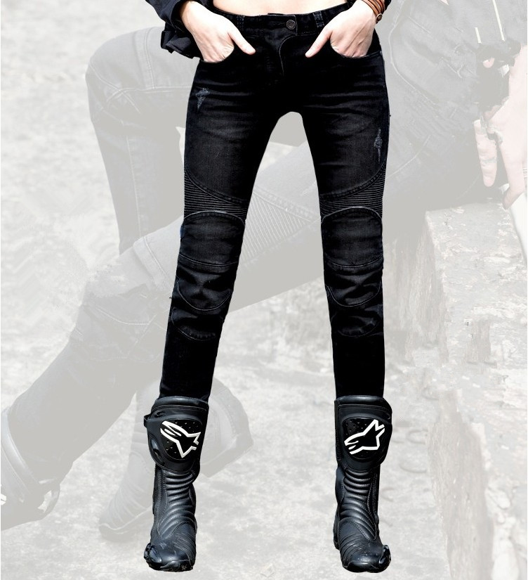 Free Shipping 3color Uglybros Featherbed Jeans motorcycle pants Ms road riding jeans fashion casual motorpool pants