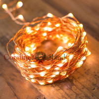 20M 65Ft Micro 200 LED Copper Wire LED Fairy String Lights For Outdoor Christmas Holiday Decor
