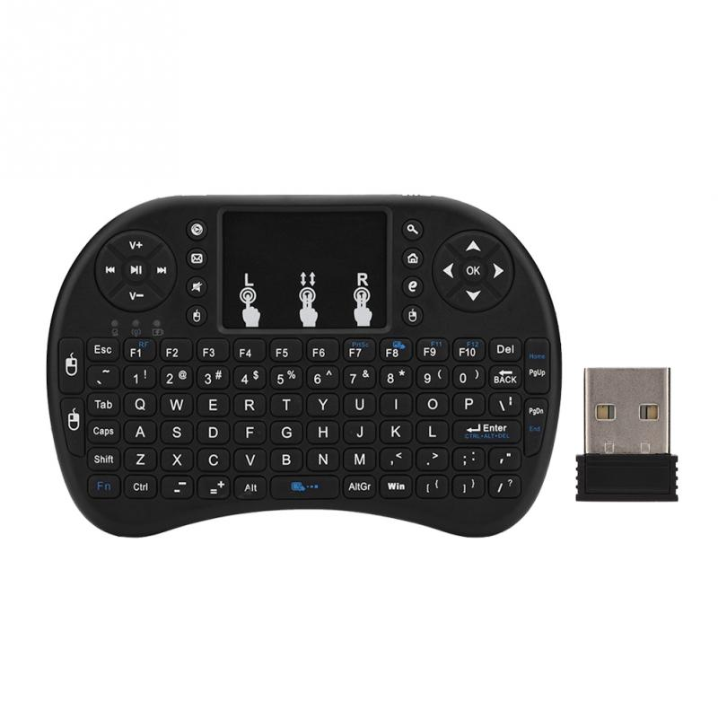 2 in 1 Mini Wireless Keyboard multi-touch pad Suitable for home entertainment, multi-media education, training,conference, games