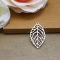 100pcs/lot Champagne Gold Color Leaf Charms Pendants For Jewelry Making DIY Handmade Craft