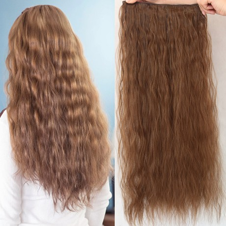 African American Clip In Human Hair Extensions 100% Human Hair Clip In One Piece Hair Extension Human Hair for Black Women (5)