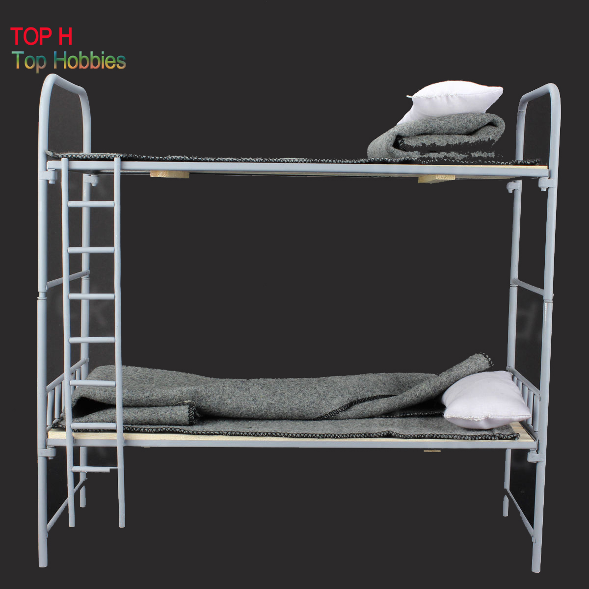 Toy Model WWII German 1/6 Scale Metal & Wooden Bunk Bed Set For 12 Figure
