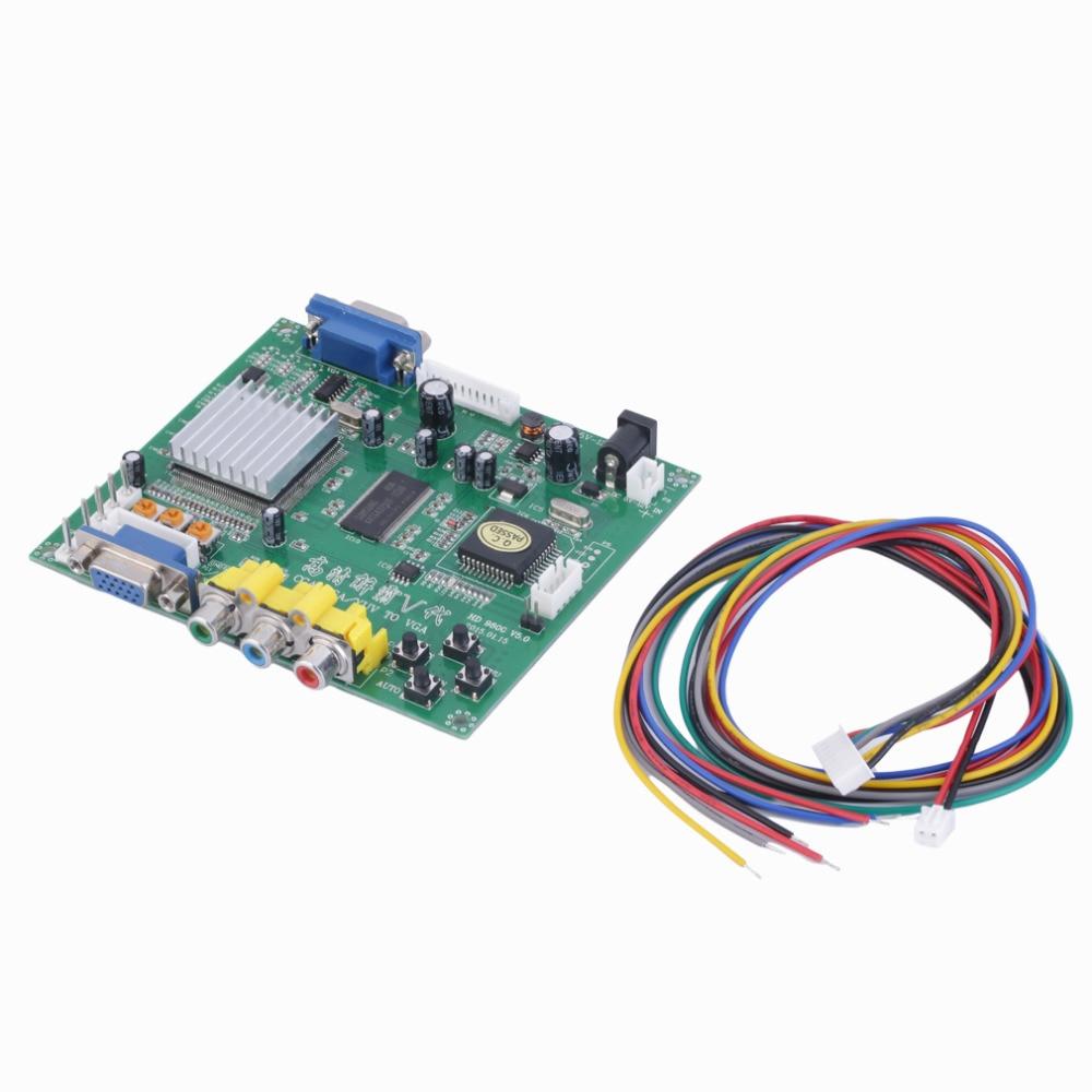 New 1 Set RGB CGA EGA YUV to VGA HD Video Converter Board Moudle HD9800 GBS8200 Free Shipping