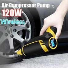 Автомобильный надувной насос с usb зарядкой, беспроводной ручной Электрический 120 Вт Цифровой автомобильный воздушный компрессор, насос для мотоциклов, автомобилей, грузовиков