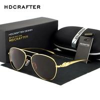 HDCRAFTER Marke Sonnenbrille für Frauen Metallrahmen Vintage Große Sonnenbrille Polarisierte Spiegel Damen Fahr Gläser Großhandel