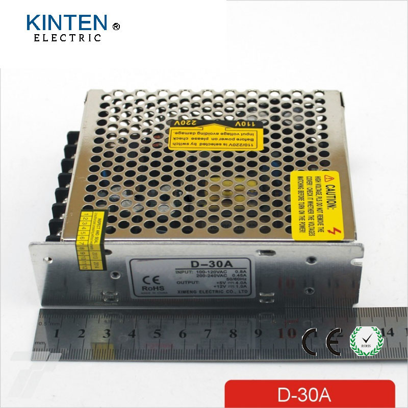 Output Voltage 5V 12V AC DC Switching Power Supply D 30A 30W Dual ...