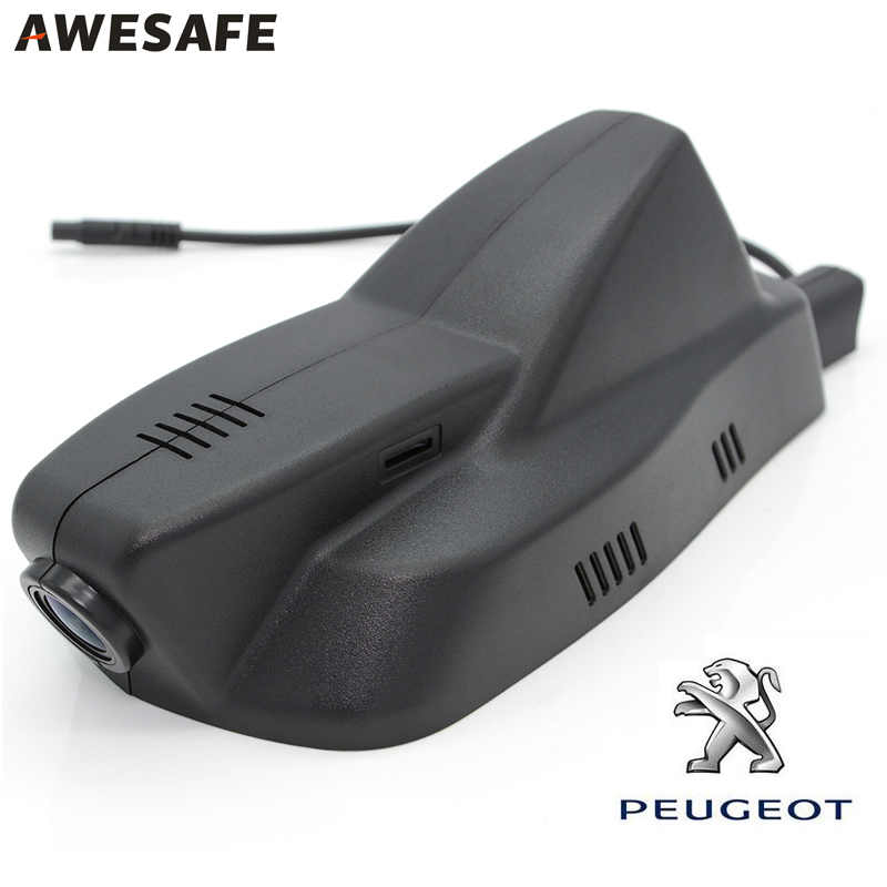 AWESAFE WiFi Car DVR Camera registrator for Peugeot 2008 2015 Novatek 96655 Full HD 1080p auto Video Recorder dvrs Dash Cam wifi car dvr dash cam camera digital video recorder full hd 1080p novatek 96655 imx 322 for vw touareg 2014 2015 registrator