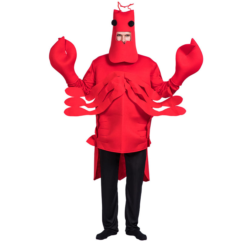 Halloween cosplay adult Men Christmas Red Lobster Costume Adult For Party Loose crab Animal  costume Pyjama