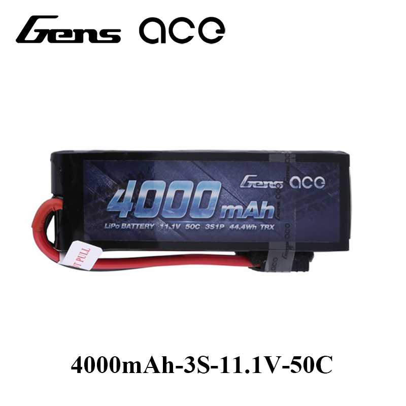 Gens ace Lipo Battery 11.1V 4000mAh Lipo 3S Battery Pack 50C TRX Plug Batteries for Traxxas RC Car FPV Drone Top Performance 3 6v 2400mah rechargeable battery pack for psp 3000 2000