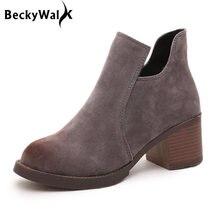 bf3cd0edcf Ankle Boots outono Saltos Grossos Sapatos Casuais Martin Mulher Botas  Femininas das Mulheres 2015 Novas Mulheres Da Moda Sapatos.