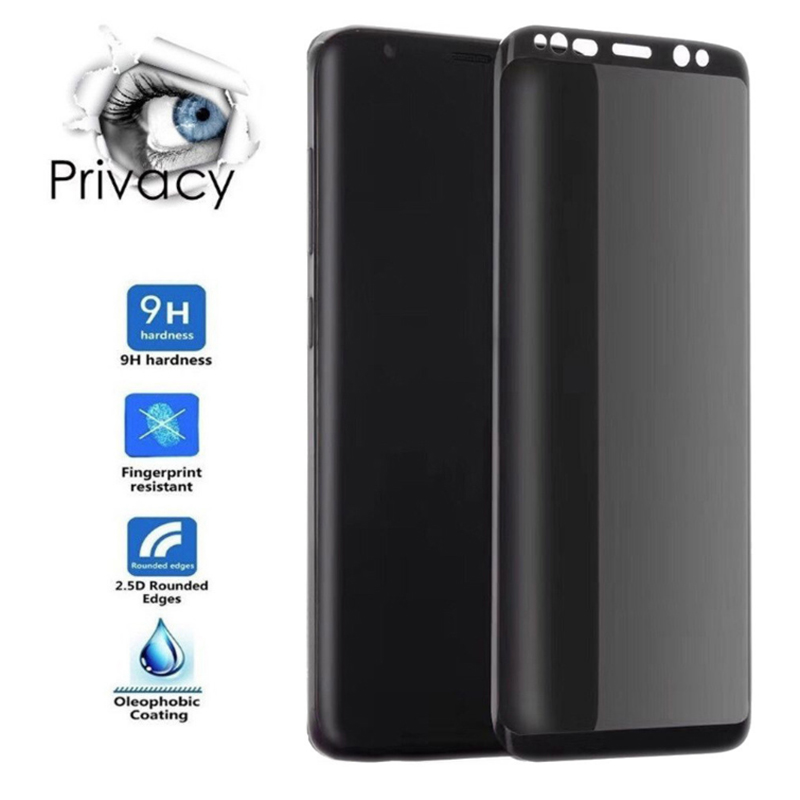 3D Full Curved Anti Spy Tempered <font><b>Glass</b></font> For <font><b>Samsung</b></font> <font><b>Galaxy</b></font> A50 A30 S9 S8 Plus Note 8 9 <font><b>M20</b></font> M10 Protect Privacy Screen Protector image