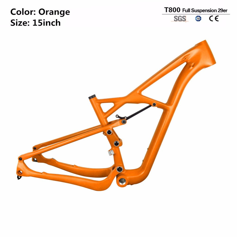 Smileteam 29er Full Carbon Suspension MTB Mountain Carbon Frame , Carbon MTB Bike Chinese Frame, Full Suspension Bike Frame 2017 mtb bicycle 29er carbon frame chinese mtb carbon frame 29er 27 5er carbon mountain bike frame 650b disc carbon mtb frame 29