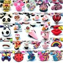 1 Uds., dulce helado, Charms para zapatos, estetoscopio, labio, arcoíris, gran imitación, accesorios para zapatos, hebillas, decoración Croc, regalo para niños JIBZ