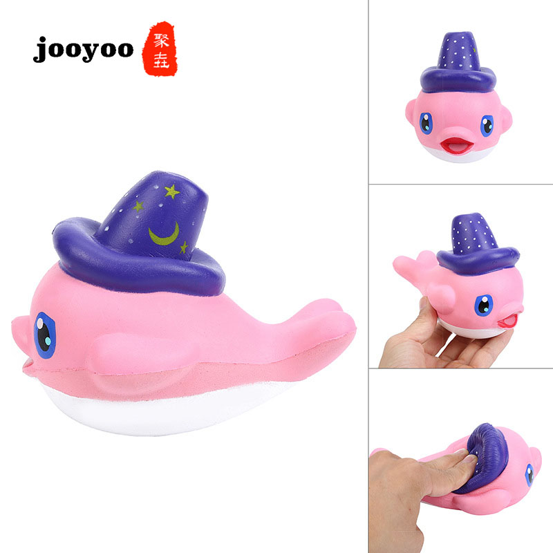 Simulation Slow Rebound Whale Dolphin Decoration Squishy Whale Bread Kids Toy Jooyoo