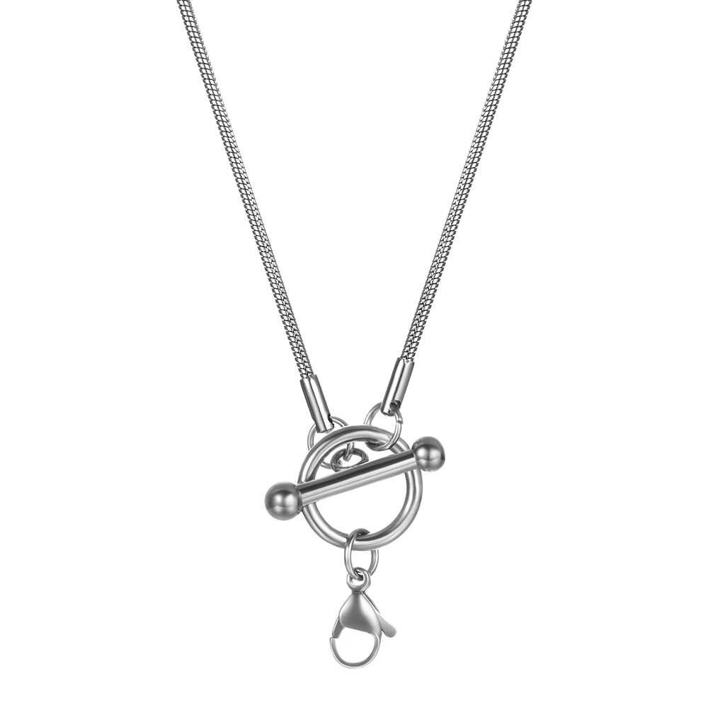 Schlange/Box/Hängen/Curb/Flach/Twist Halsketten Mit Toggle Karabinerverschluss Für Männer Frauen Edelstahl stahl Kette 20 zoll