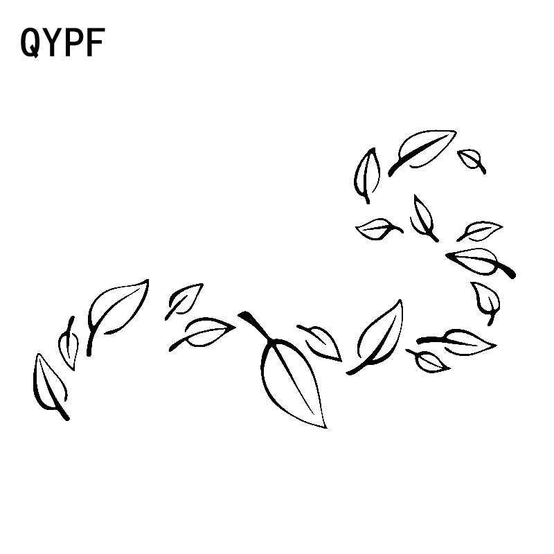 QYPF 17,6 см * 10,8 см нежный, как корень биббон листья танцуют в ветре изящно виниловые наклейки автомобиля Наклейка C18-1002