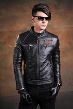C&C Market.EMS Brand cool New style Vintage men's quality Jackets slim nature 100% genuine cow Leather jacket.coat,motor