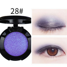 1pcs Lady Beauty Single Baked Eye Shadow Powder Palette Eyeshadow Purple Blue