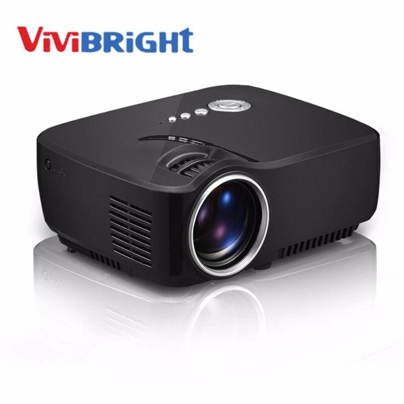 Vivibright gp70 g90 lcd proyector 1200 lúmenes apoyo 1920x1080 p tv analógica le
